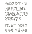handwritten sans serif abc vector image vector image