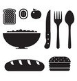 healthy breakfast icon set vector image