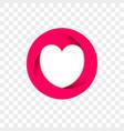 heart logo infinity loop art icon vector image vector image