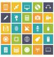 icons plain tablet technology vector image vector image