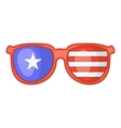 Independence day sunglasses icon cartoon style vector image vector image