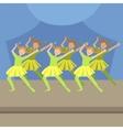 Kids Synchronized Modern Dance Performance vector image vector image