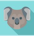 koala head icon flat style vector image vector image