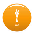 leek icon orange vector image vector image