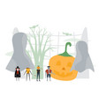 minimal scene for halloween day 31 october with vector image vector image
