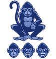 monkey mascot vector image vector image
