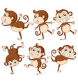 Monkey set vector image vector image