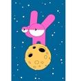 Moon Rabbit Moods vector image vector image