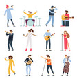 musician artists guitar playing artist young vector image