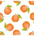 Orange peach fruit seamless pattern vector image vector image