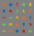 Personal financial color icons on gray background vector image vector image