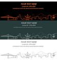 portland event banner hand drawn skyline vector image vector image