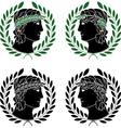 profile of greek men vector image vector image