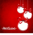 Red card for Christmas vector image