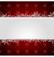 Red Christmas greeting background vector image vector image