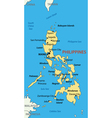 Republic of the Philippines - map vector image vector image