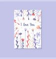 romantic greeting card with the inscription i love vector image vector image