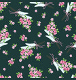 seamless pattern with a bouquet small pink vector image vector image