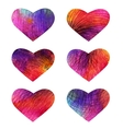 Set of colorful hearts EPS 10 vector image vector image