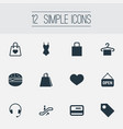 set of simple sale icons vector image vector image