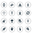set of simple solution icons vector image vector image