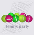 set of tennis balls vector image