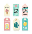 set vintage sale and gift tags and labels vector image vector image