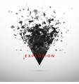 shatter and destruction dark triangle abstract vector image vector image