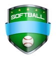 Softball Shield badge vector image vector image