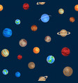 solar system seamless pattern different colorful vector image