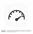 speedometer icon vector image