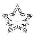 star award symbol with blank ribbon banner vector image