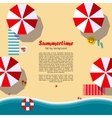 Summertime flat lay background vector image vector image