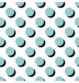 tile pattern with blue polka dots on white vector image vector image
