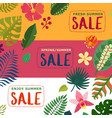 tropical plants banners set vector image vector image