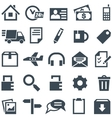 Universal set of icons for mobile applications and vector image vector image