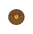 vintage coffee bean round emblem logo designs vector image vector image