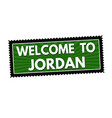 welcome to jordan travel sticker or stamp vector image vector image