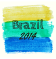 with watercolor elements dedicated to Brazil vector image