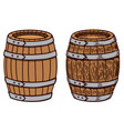 wooden barrel on white background design element vector image