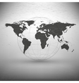 world map with the shadow on gray background