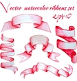 watercolor ribbons set vector image