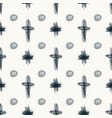 doodle sketch seamless pattern with circles and vector image