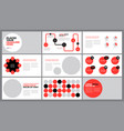 red presentation template vector image