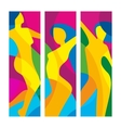 The dancing beautiful girl on a colorful vector image