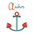 A is for anchor vector image