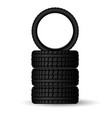 a stack new four winter tires for safe and vector image vector image