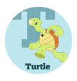 abc cartoon turtle2 vector image vector image