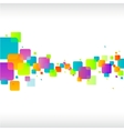 Abstract colorful square background vector image