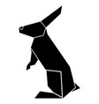 abstract low poly rabbit icon vector image vector image